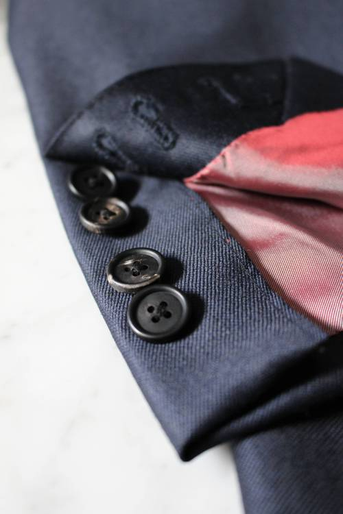 Suit working cuffs and Hand made button holes