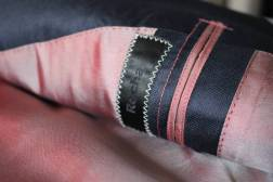 Inside lining of Suit with Hand Picked Stitching